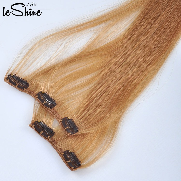 Leshinehair Dropshipping 100 Human China Supplier Clip Hair
