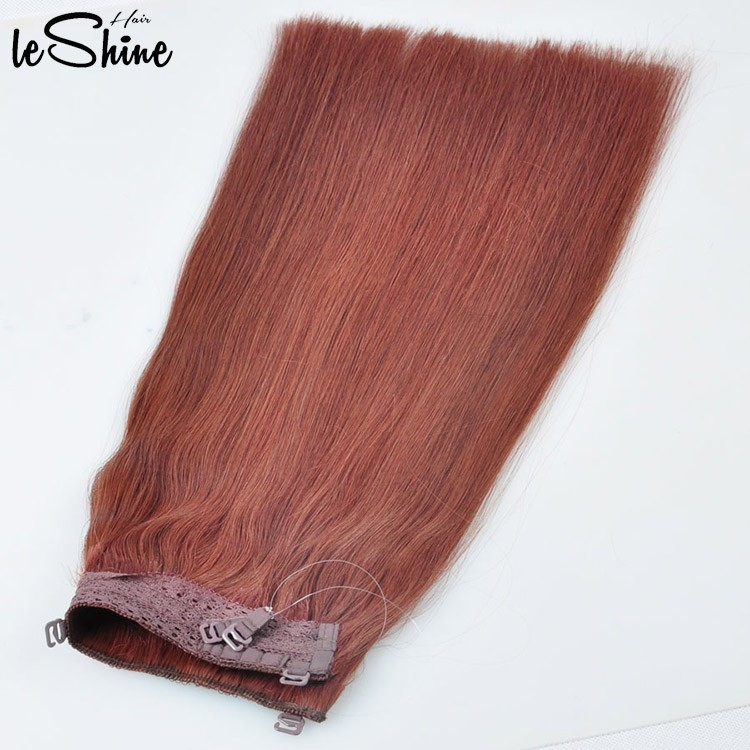 Leshinehair Halo Fish Wire Human Hair Extension High Quality Factory