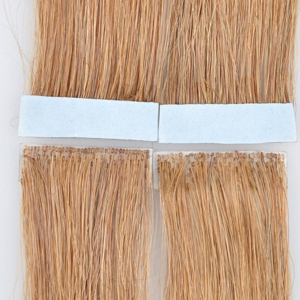 Brazilian remy hand-tied tape hair PU wefts no short hair in